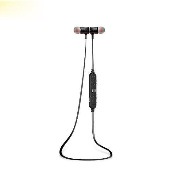 Awei A921bl Noir Sans Fil Bluetooth Écouteurs De Sport Magnétique Stéréo Son Réduction Du Bruit Avec Microphone
