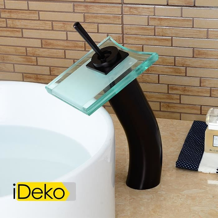 vasque pour salle de bain ROBINETTERIE SDB iDeko® Robinet Mitigeur lavabo cascade vasque pour