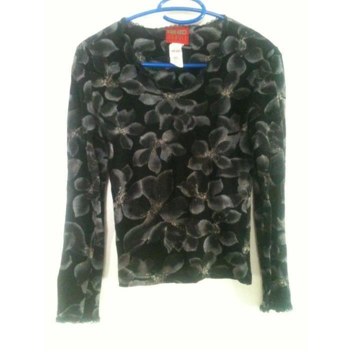 Haut en laine T 36 KENZO Noir - Achat   Vente pull 2009959526584 ... aa875b5af0b