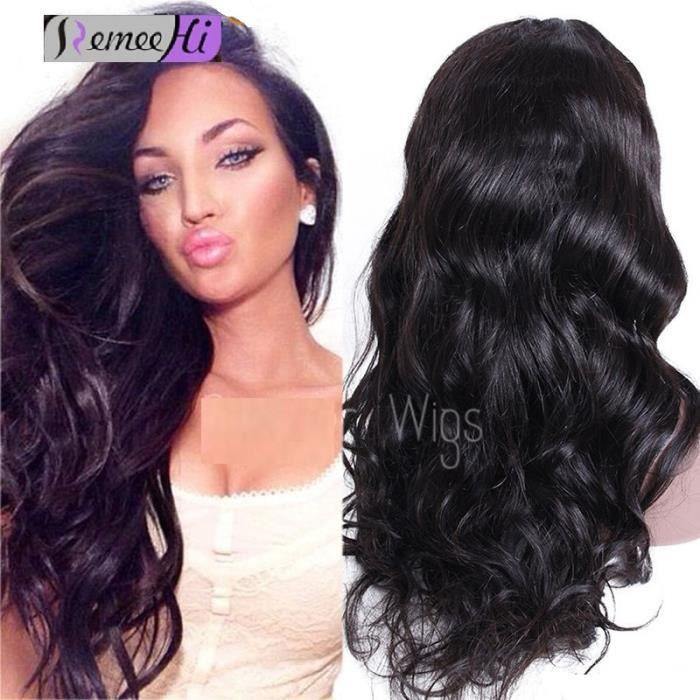 Couleur noir sur cheveux brun