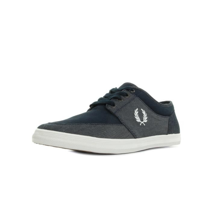 Baskets Chambray Stratford Fred Perry Navy Canvas wPFq7wH0