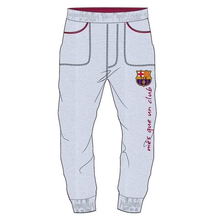 Pantalon bas de jogging FC BARCELONE FCB doublé survêtement enfant ... 48db5b79c78