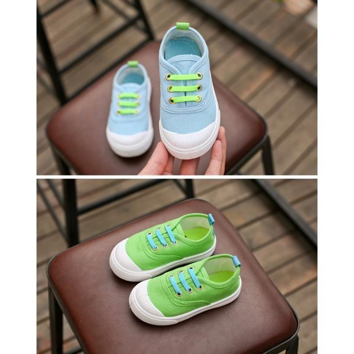Bébé mode Candy Canvas Sneakers enfant chaussures Casual