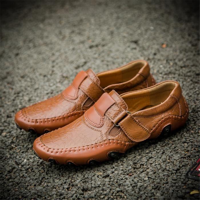 Derbies Homme De Marque De Luxe En Cuir Chaussure Beau Chaussure Qualité Supérieure Nouvelle Mode Antidérapant 38-47 PBPw2