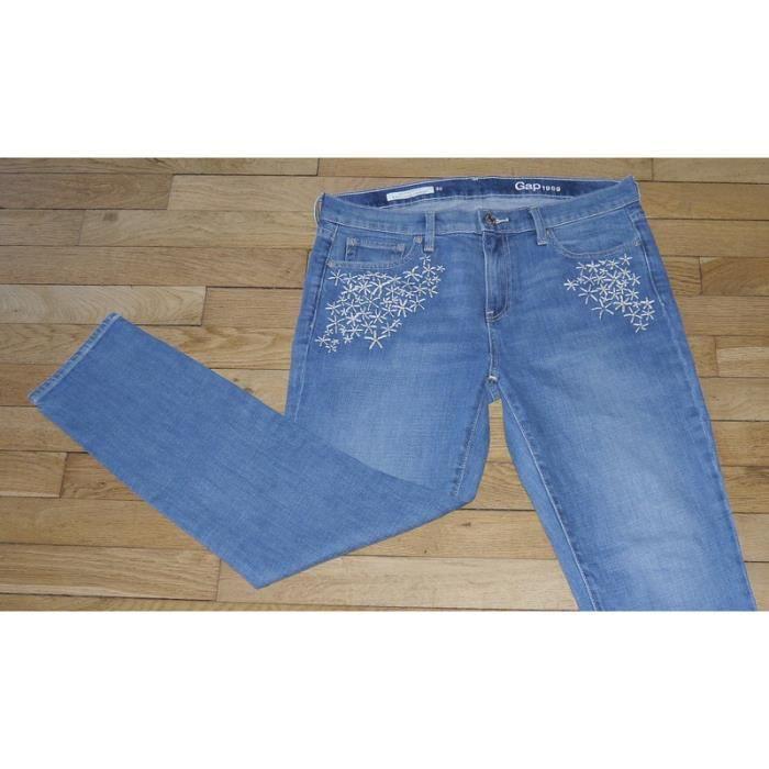 b1e9979674 GAP Jeans pour Femme W 30 - L 30 Taille Fr 40 (Réf #P218) Bleu Bleu ...