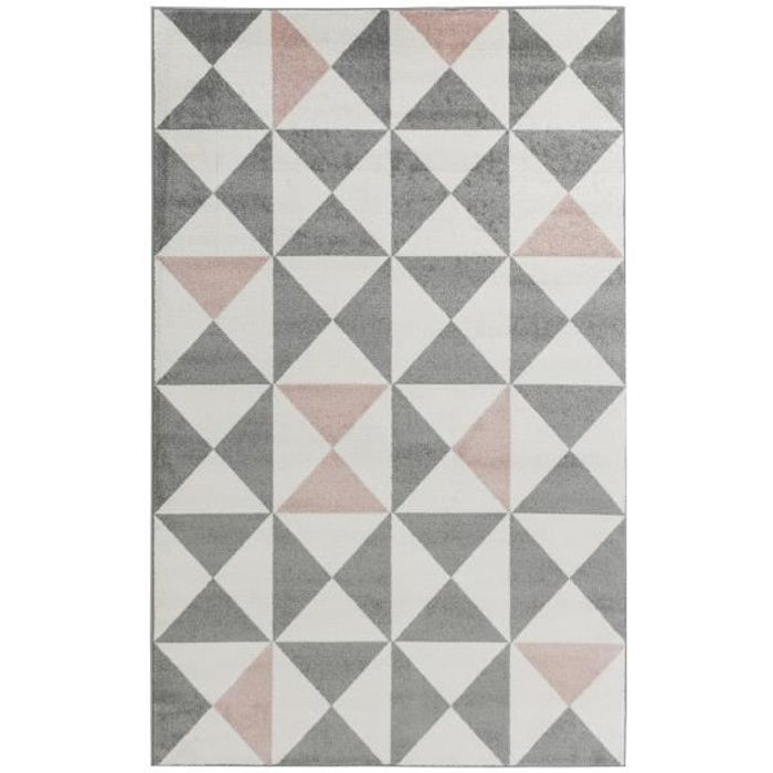 Tapis scandinave rose - Achat / Vente pas cher