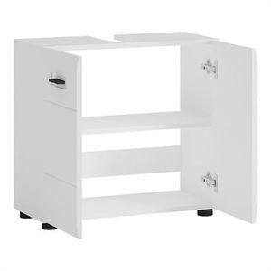 meuble salle de bain rangement sous lavabo blanc achat vente meuble salle de bain rangement. Black Bedroom Furniture Sets. Home Design Ideas