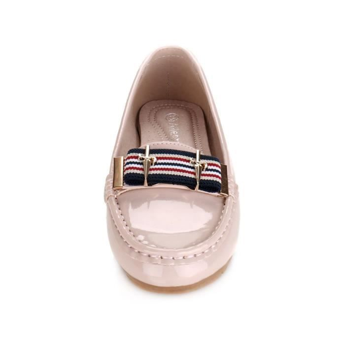 Bow rayures Slip-on Mocassins YRBGR Taille-38 1-2