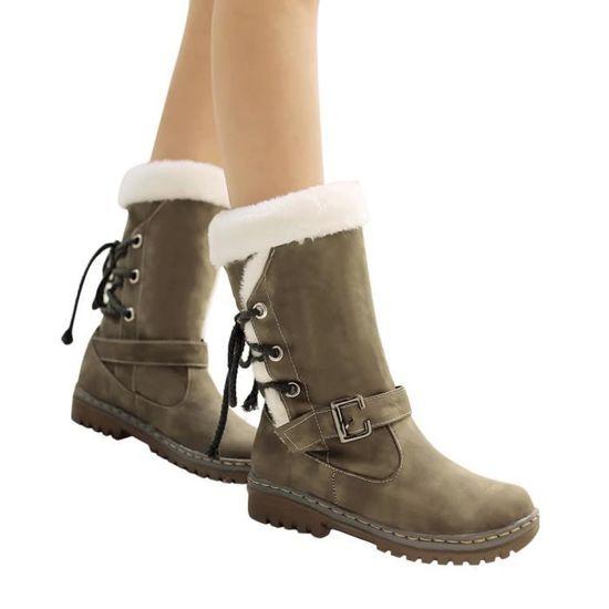 De Plates Classiques Chaussures Mode Femme Bottes Chaudes Neige 7669 D'hiver Fourrure Talons w5g0q