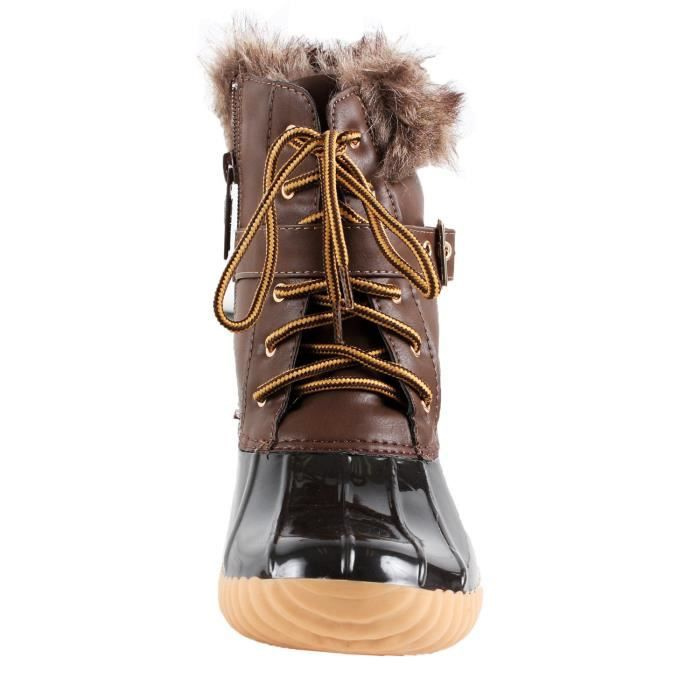 Canard-01 Chic Lace Up Buckled canard Bottes de neige imperméables BHDX5 Taille-40