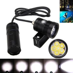 LAMPE DE POCHE Sous l'eau 150m 10000lm 6x L2 LED Lampe de poche d