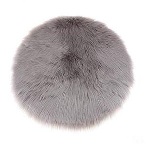 Tapis fourrure gris - Achat / Vente pas cher