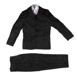 COSTUME - TAILLEUR Costume 5 pièces cérémonie garçon noir