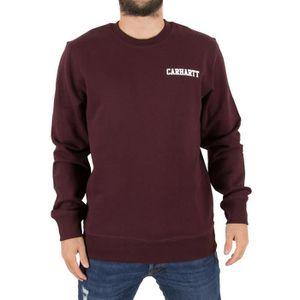 111256efbf839 Carhartt WIP Homme College Script Logo Sweatshirt, Rouge Rouge Rouge ...