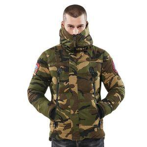 DOUDOUNE Boutique Hugo-Hiver Chaud Doudoune Militaire Camou