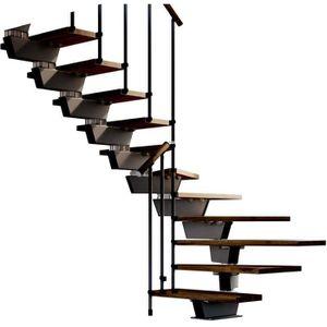 ESCALIER Escalier double quart tournant 12 marches - Struct