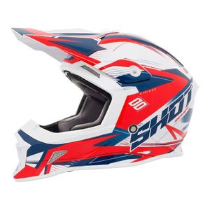 CASQUE MOTO SCOOTER Casque Cross Shot Striker Side Bleu / Rouge 2018 (