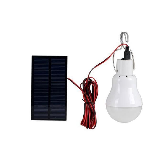 Panneau Pour Solaire Avec 8w Mise L'extérieury3159` Au Lampe Ampoule Portable Led Point 0 OikPZXuT