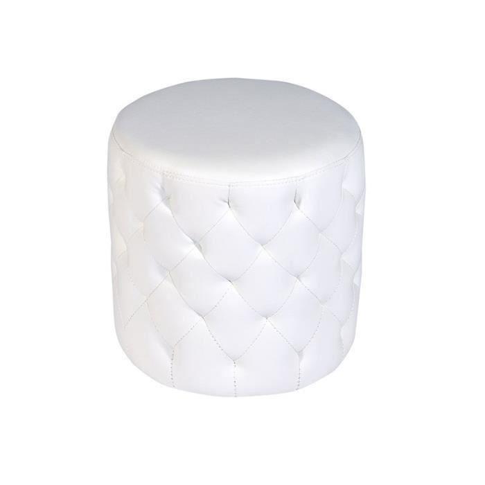 pouf blanc capitonn achat vente pouf poire cuir pu bois polyur thane cdiscount. Black Bedroom Furniture Sets. Home Design Ideas