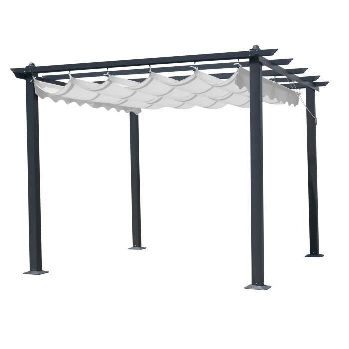 tonnelle carr e 3x3 m structure grise et toile blanche opera achat vente tonnelle barnum. Black Bedroom Furniture Sets. Home Design Ideas