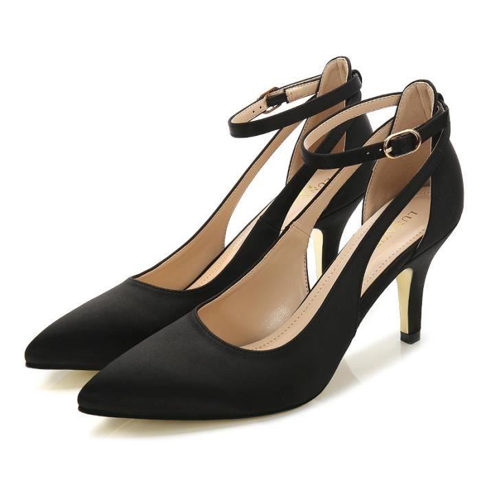 Femmes & # 39; Gladiateur Sandales Summer Style Mode spartiates creux Talon haut Chaussures Femme Ladies pompes Casual,noir,38