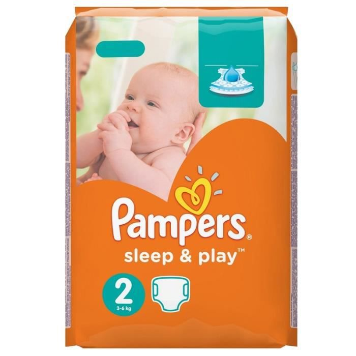 Pack 68 Couches Pampers Sleep Play Taille 2 Achat Vente Couche