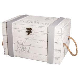 petit coffre bois achat vente petit coffre bois pas cher soldes d s le 10 janvier cdiscount. Black Bedroom Furniture Sets. Home Design Ideas