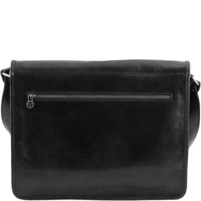 cuir Tuscany porté Sac épaule Leather Noir 6OOqIH8wx
