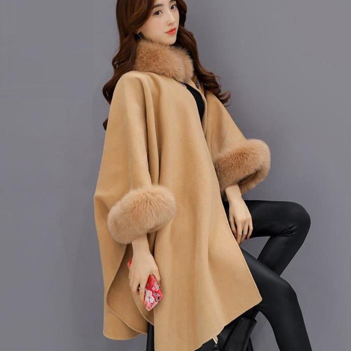 wt Veste Outwear 1036 Cardigan Marron Manteau Fourrure En Décontracté Hsw71121452bw Femmes Laine De Mode Parka 56XqUaOx