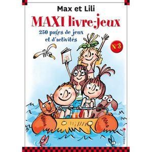 LIVRE JEUX ACTIVITÉS Maxi livre-jeux Max et Lili