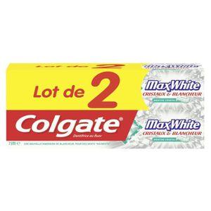 COLGATE Dentifrice Maxwhite - 75 ml - Lot de 2