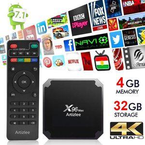 BOX MULTIMEDIA  TV Box, 4Go 32Go - ARTIZLEE® Smart Box TV X96 Max