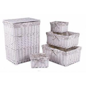 meuble panier a linge blanc achat vente meuble panier a linge blanc pas cher cdiscount. Black Bedroom Furniture Sets. Home Design Ideas