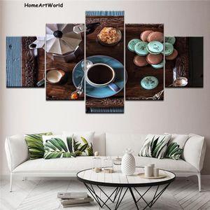 OBJET DÉCORATION MURALE Home Decor HD imprime 5 pièces tasse de café photo