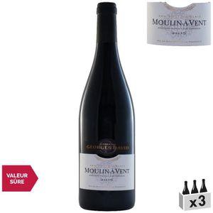 VIN ROUGE Domaine Georges David Moulin-à-Vent Rouge 2015 x3