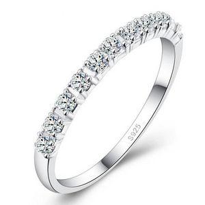 ALLIANCE - SOLITAIRE Anneaux de mariage DIAMOND Femmes 925 anneaux en d