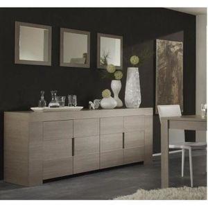 Salle à manger decor chêne grisé ZOET E1 avec é… - Achat / Vente ...