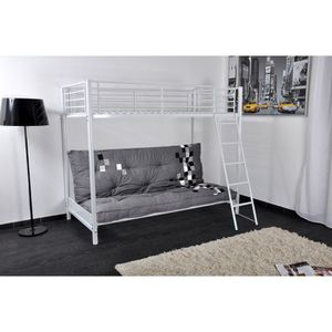 mezzaclic mezzanine 90cm blanc structure clic clac achat vente lits superpos s mezzaclic. Black Bedroom Furniture Sets. Home Design Ideas
