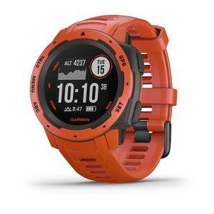 GPS PEDESTRE RANDONNEE  GARMIN Instinct Graphite Rouge feu Montre GPS mult