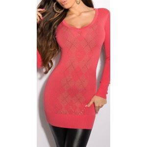 2b3619a4b5432 Robe pull fashion tendance Koucl... Corail Orange - Achat   Vente ...