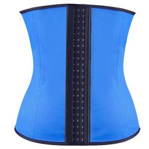 BUSTIER - CORSET Bleu Corset Minceur Corset Serre Taille Latex Wais