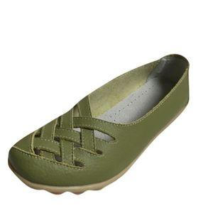 Mocassin Femmes ete Loafer Ultra Leger Respirant Chaussures FXG-XZ053Vert40 qd13dx