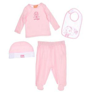BONNET - CAGOULE Set t-shirt pantalon bavoir bonnet bébé Fille PAT'