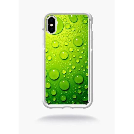 coque iphone xr vert eau