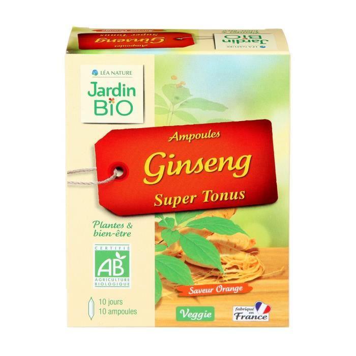 JARDIN BIO Ampoule ginseng super tonus - Bio - 100 g - Saveur orange
