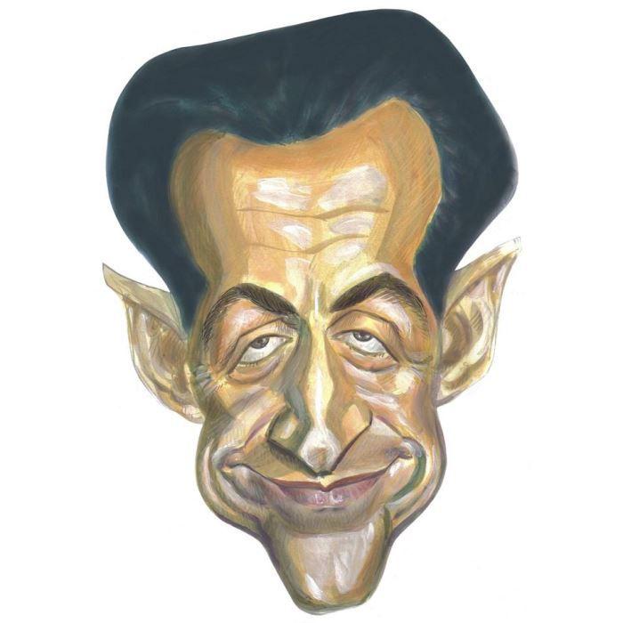 CESAR - F062 - Masque en Carton Sarkozy