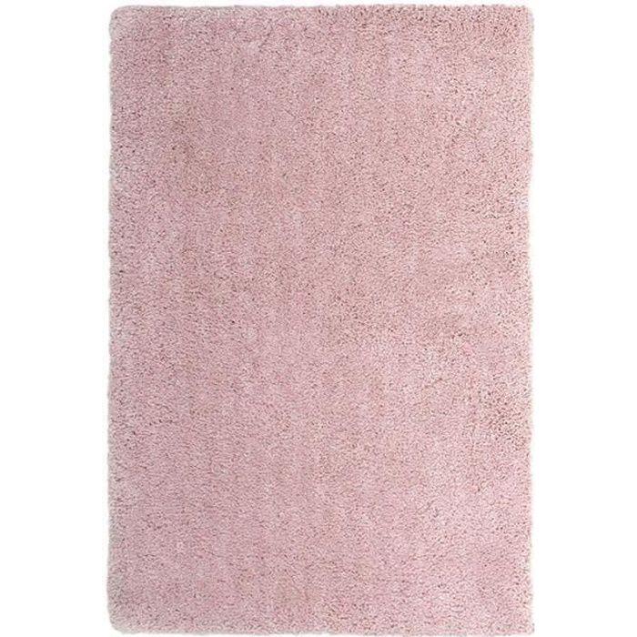 Salon ou chambre - 120x170 cm - M - Doux - Rose poudréTAPIS - DESSOUS DE TAPIS