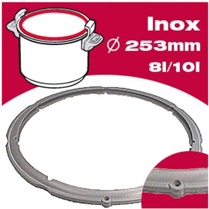 SEB Joint autocuiseur inox 980158 8-10L Ø25,3cm gris