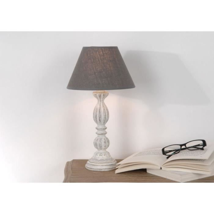 lampe chevet blanche achat vente lampe chevet blanche pas cher cdiscount. Black Bedroom Furniture Sets. Home Design Ideas