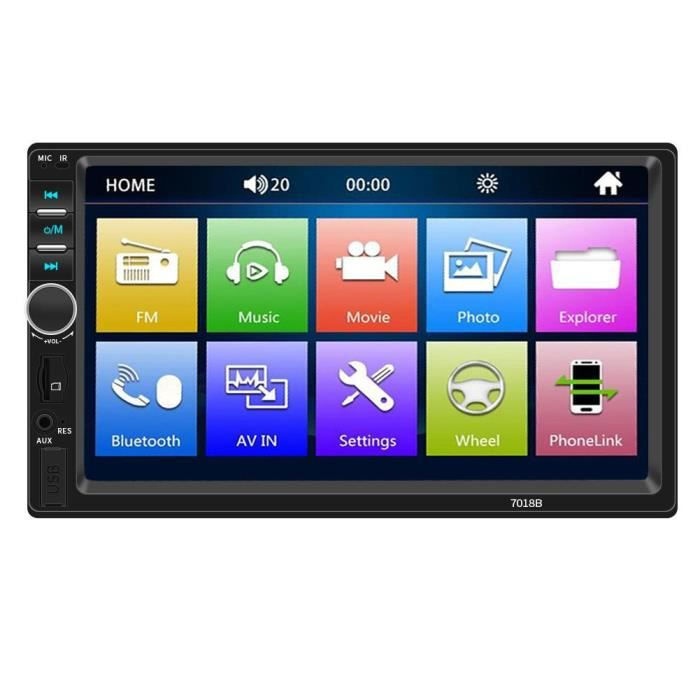 AUTORADIO 7018B voiture Radio 7 pouces Dash Audio MP5 Player